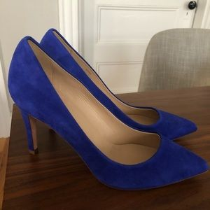 J. Crew Everly suede pumps royal blue size 7
